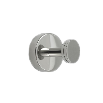 Stainless Steel Single Coat Hook Round Base