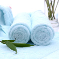 3 Piece Bamboo Towel Set Light Blue