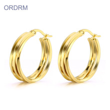 Stainless Steel Gold Hoop Earrings For Women