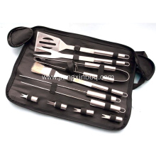 10pcs Grill Tools Set with Sack Bag