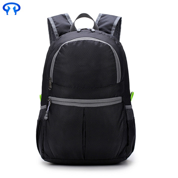 Scratch resistant waterproof folding Nylon Double knapsack