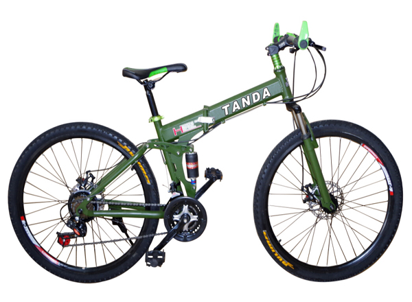 Aluminium Alloy Frame Mountain bike with Integrated Wheel