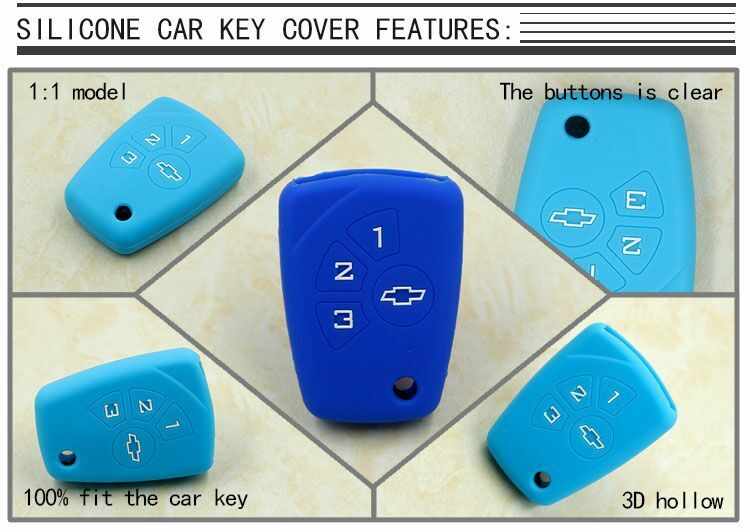 silicone car key case