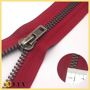 NO.5 heavy duty separating metal jacket zipper