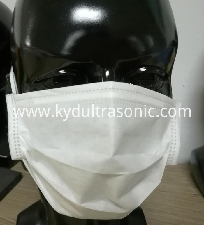 Non woven inside ear-loop mask welding machine