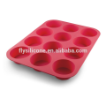 12 Cup Silicone Muffin & Cupcake Baking Pan