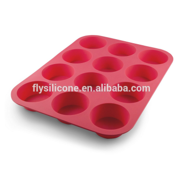 High Quality for 12 Cups Silicone Muffin Pan 12 Cup Silicone Muffin & Cupcake Baking Pan export to El Salvador Exporter