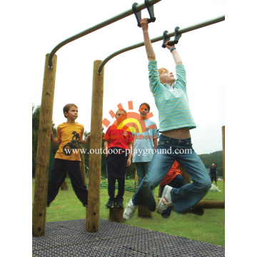 Outdoor Playground Parallel Bars Balance Structure For Kids