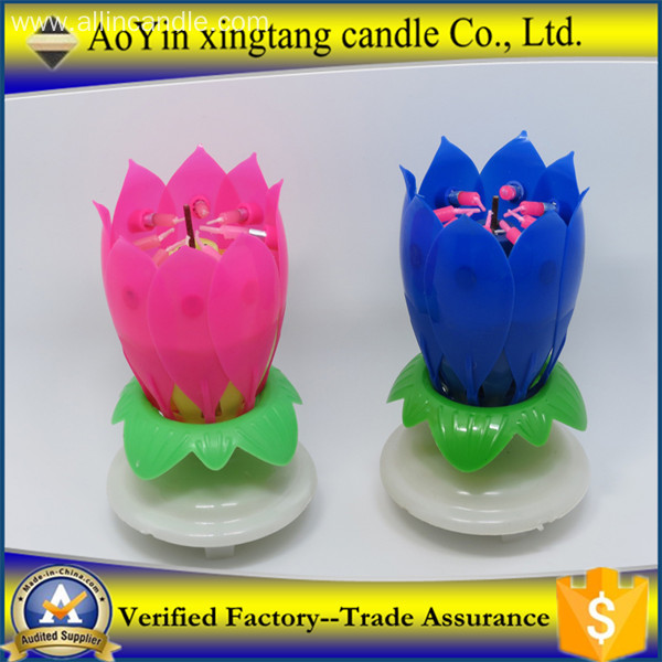 Party Accessories Lotus Flower Birthday Music Candle