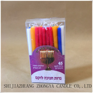 High quality Chanukah candles with lead-free wicks