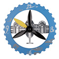 Plane In Sky 18 Inches Gear Wall Clock