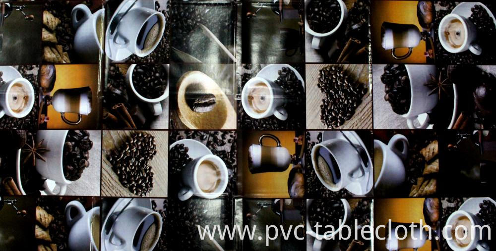 Coffee Design Vinyl Tablecloth