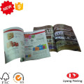 Softcover magazine brochure printing with glossy lamination