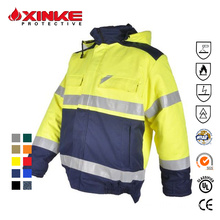국제 인증 Hi Vis Safety Workwear 자켓