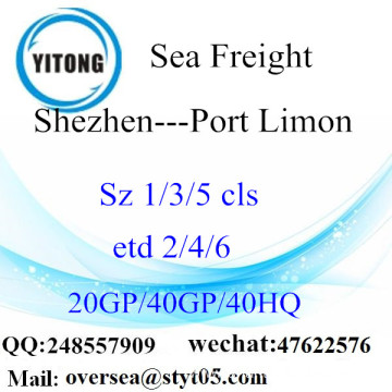 Shenzhen Port Sea Freight Shipping To Port Limon