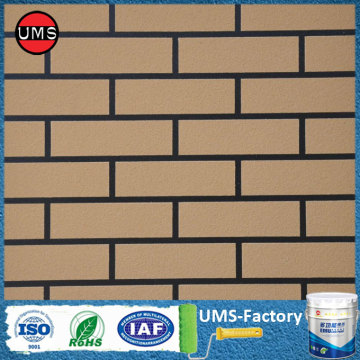 Paint brick wall pattern look like brick