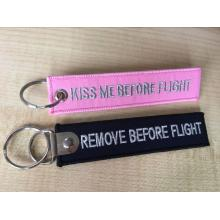 Professional for Custom Rubber Keychains Remove before flight embroidery key ring export to Russian Federation Supplier