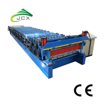 Galvanized double layer roof panel machine