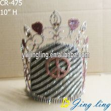 Jingling hot sale Crown heart peace shape