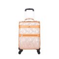Fashion PU leather rolling luggage sets
