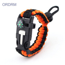 High Quality for Outdoor Paracord Bracelet Custom Mens 2 Color Paracord Bracelet export to Netherlands Wholesale