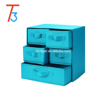 5 drawer foldable storage box /undewear drawer storage case