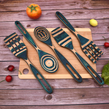 5 PCS Pakkawood Kitchen Utensil Sets