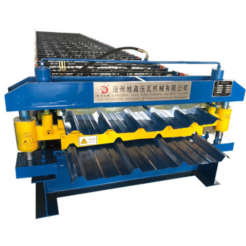 Colored steel roof panel trapezoidal roll forming machine