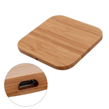 Bamboo Wood Wireless Charger For Iphone/Samsung