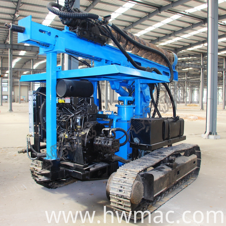 photovoltaic pile press machine