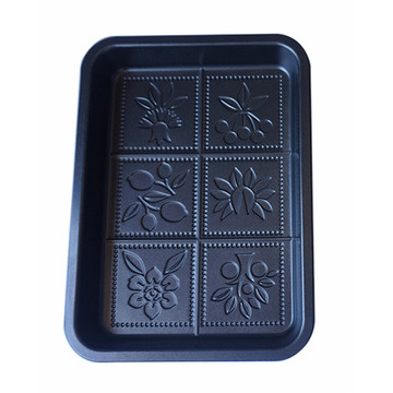 Europe style for for Silicone Chocolate Mold Non Stick Nodic Ware Flower Snowflake Shortbread Pan export to Spain Wholesale