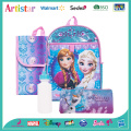 DISNEY FROZEN blue license school backpack set