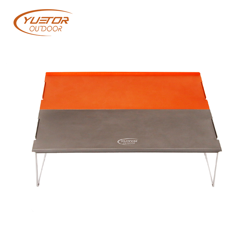 Double Color Auminum Folding Low Camping Table 2