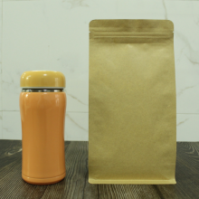 500g flat bottom kraft paper bag with middle zipper