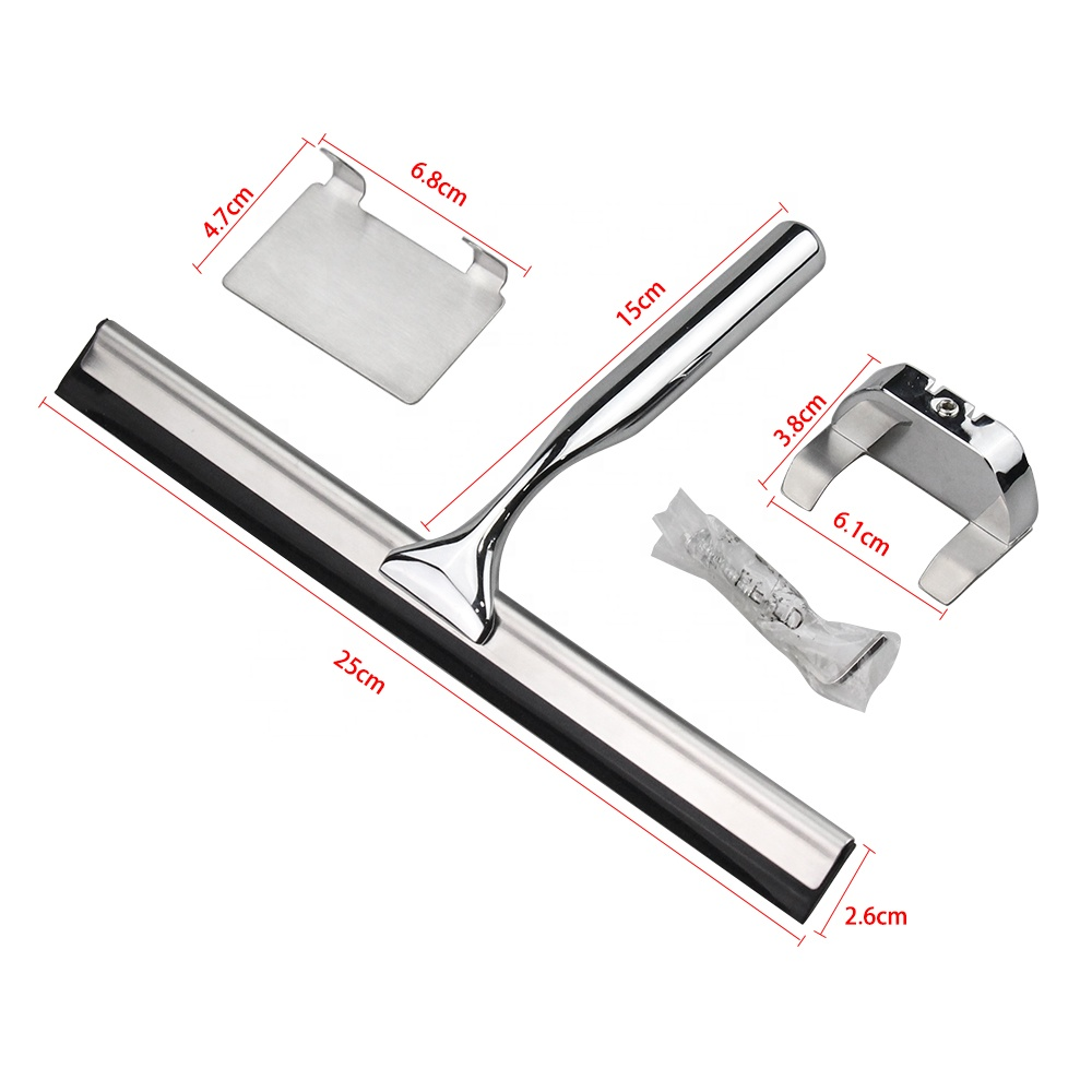 Professional-bathroom-stainless-steel-shower-squeegee