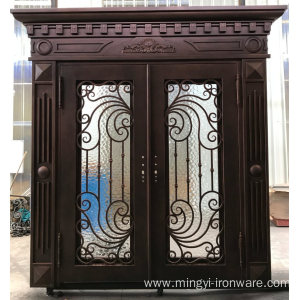 China for Iron Doors Wholesale Affordable Wrought Iron Front Door Top Quality supply to Guatemala Exporter