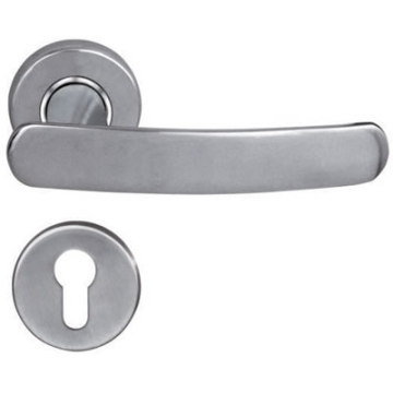 Polished Lever Steel Door Handle