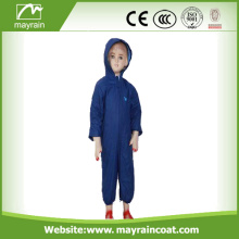 PU Children Dark Blue Rainsuits
