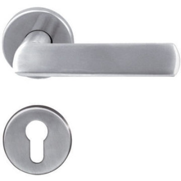 Solid Casting Lever Handle For Wooden Door
