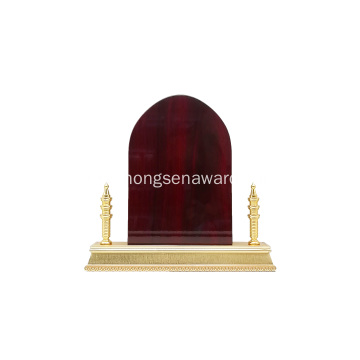 dubai shield wooden metal award trophy with  gift box