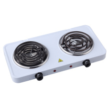High Quality for China Double Iron Hotplate,Double Burner Electric Hotplate,220V Hotplate Supplier 2500W Double coiled plate cookertop burner Hoplate export to Trinidad and Tobago Exporter