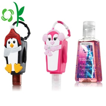 Hand Sanitizer Bottle With Hanging Silicone Holder Keychain