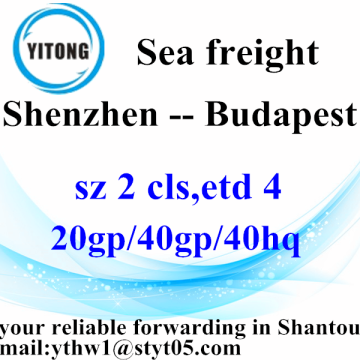 Shenzhen Shipping Agent Logistics Transport Service to Budapest
