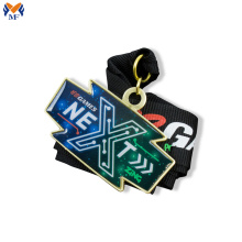 Custom design metal medal with stickers