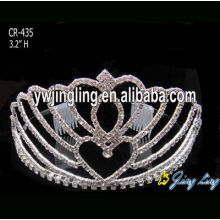 China Supplier for Pearl Wedding Tiara Wholesale Rhinestone Wedding Tiaras export to Equatorial Guinea Factory