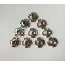 Yellow zinc plated machine lock nuts