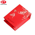 Customized Wedding Door Gift Paper Bag Red