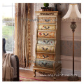 Wholesales Vintage Used woodens Antique country style 7 Drawer classic cabinet