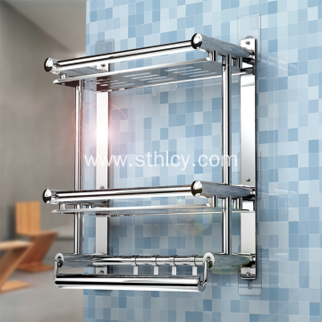New Design Stainless Steel Towel Rack Shelf Bathroom