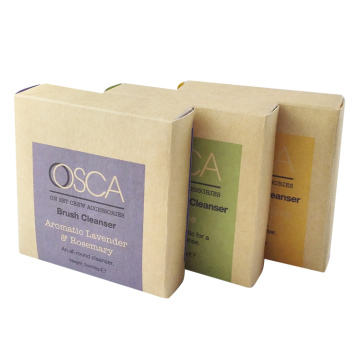 Brown Kraft Paper Flat Packed Soap Paper Box